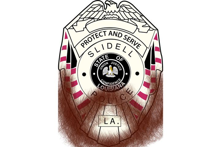 Due to a recent policy changeofficers with the Slidell (LA) Police Department will now be allowed to port a beard in uniform. - Image courtesy of Slidell PD / Facebook.