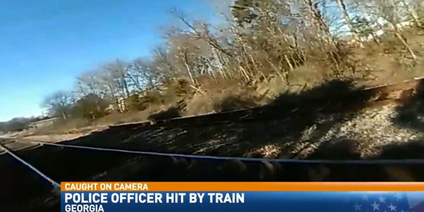 Video: Officer Struck by Train During Foot Pursuit Miraculously Survives