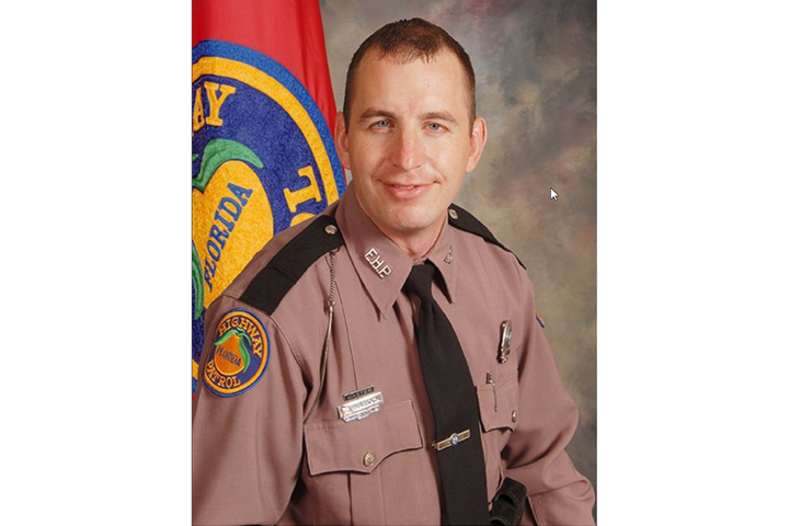 Florida Trooper Joseph Bullock was shot and killed on I-95 after he stopped to help a stranded driver. - Photo: FLHSMV / Twitter