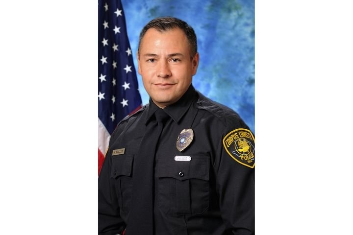 Officer Alan McCollum with the Corpus Christi Police Department was killed as a passing vehicle struck him as he and other officers were conducting a traffic stop. - Image courtesy of Corpus Christi Police Department.
