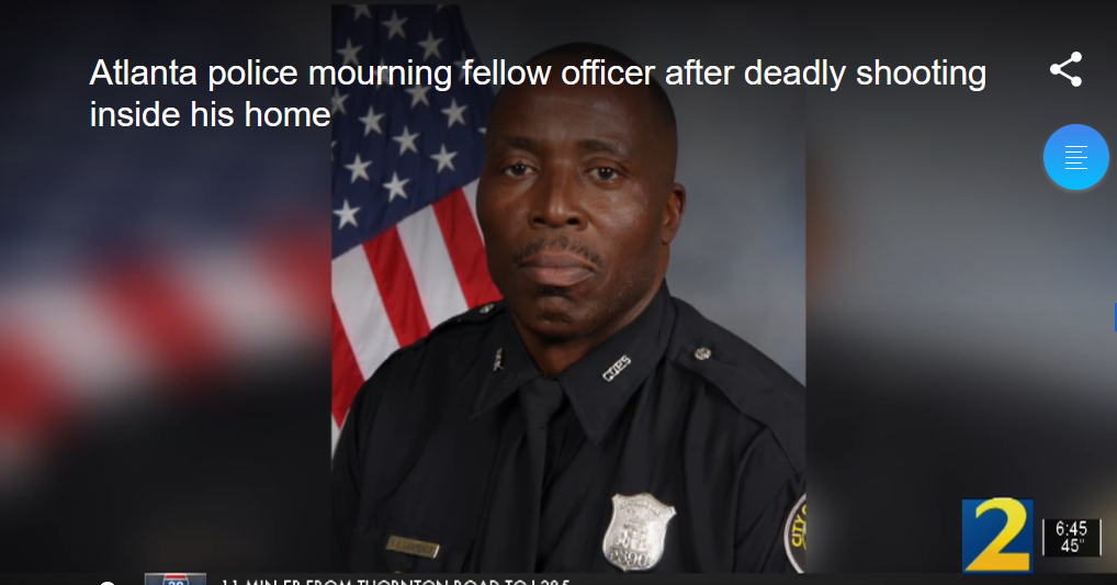 Veteran Atlanta Officer Shot and Killed—Wife Faces Murder Charge