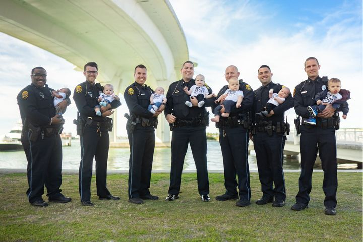 The Clearwater (FL) Police Department announced on social media that its extended family mushroomed last year with the arrival of 13 new babies in 2019. - Image courtesy of Clearwater PD / Facebook.