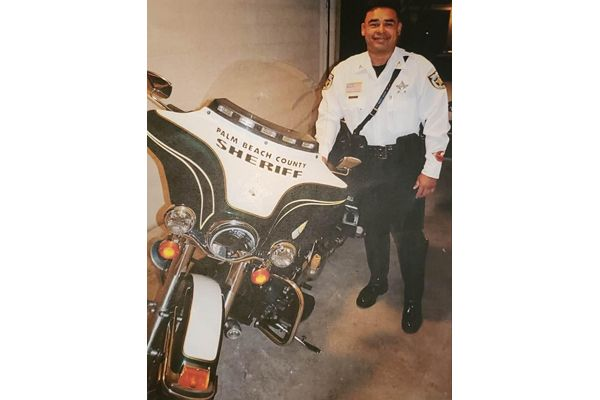 Deputy Hubert Burey, of West Palm Beach, was killed after his motorcycle hit a National Park Service Law Enforcement Vehicle near the Big Cypress National Preserve on Sunday afternoon. - Image courtesy of Palm Beach County Sheriff's Office / Facebook.