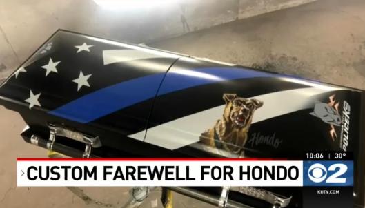Utah K-9 Killed on Duty to be Buried in Custom Casket