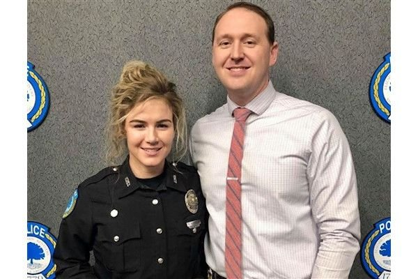Detective Chase McKeown and Officer Nicole McKeown of the Elizabethtown (KY) Police Department have been married for six months. - Photo: Elizabethtown (KY) Police Department