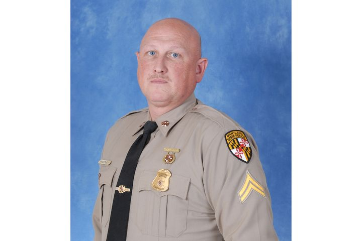 Corporal David Wagoner of the Maryland State Police rescued a man from a burning car and saved his life. (Photo: Maryland State Police/NLEOMF) -