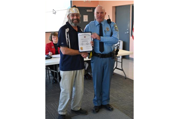 Officer Michael Wagenblast has been named the Veterans of Foreign Wars State of Kansas Officer of the Year. - Photo: Riley County (KS) Police Department