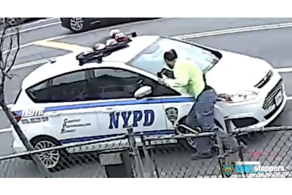 Video: Man Attacks Unoccupied NYPD Squad Car
