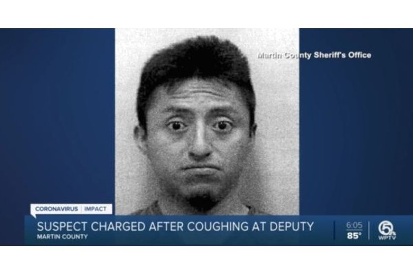 At one point the man removed the mask and began intentionally coughing toward the deputy,...