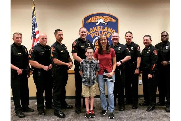 5.11 has named Zechariah Cartledge, 11-year-old founder of nonprofit organization Running 4 Heroes, as its newest Everyday Hero for his support of law enforcement. - Photo courtesy of 5.11