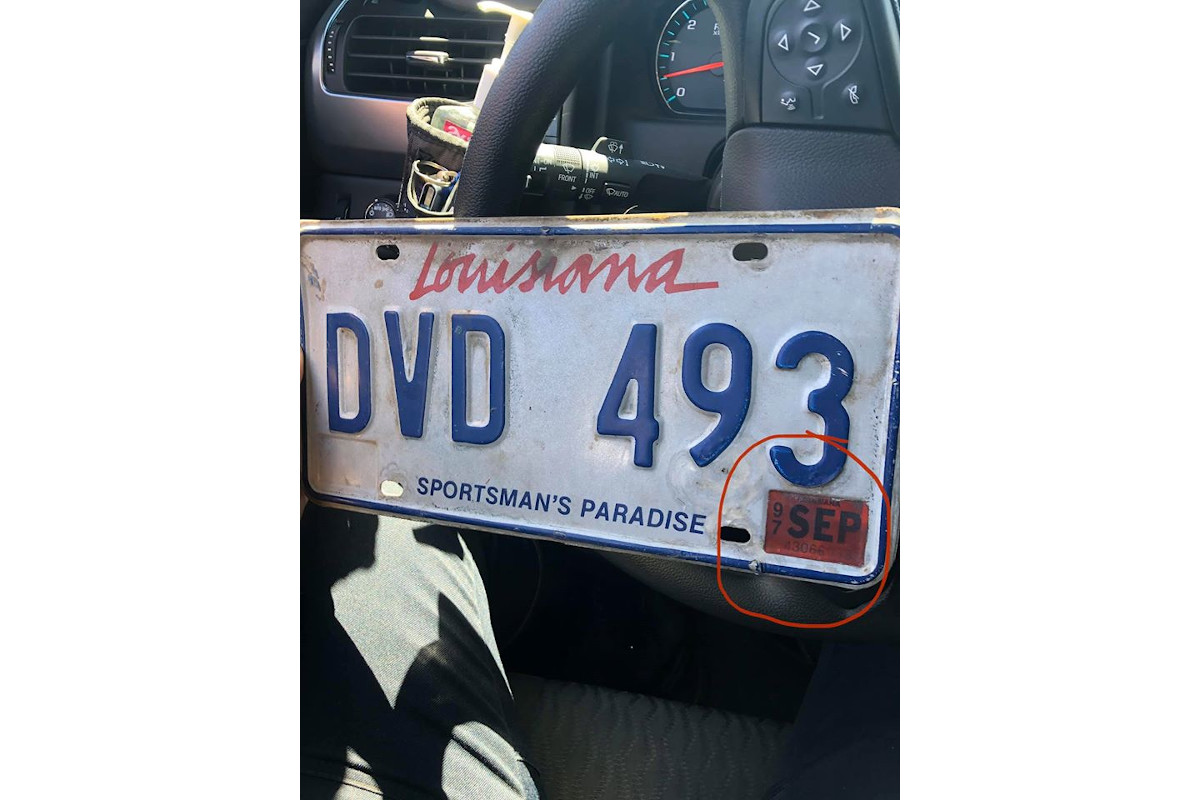 Louisiana Officer Pulls Over Car with 1997 License Plate