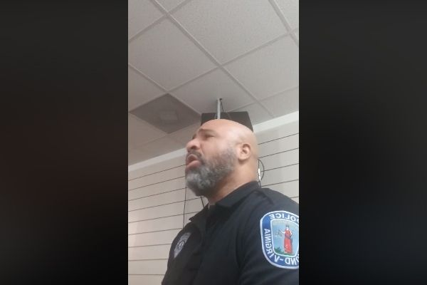 "Officer Mervin Mayo with the Richmond (VA) Police Department posted a video of himself singing Marvin Sapp's classic, ""The Best of Me"" and has become an internet sensation.  - Image courtesy of Mervin Mayo / Facebook."