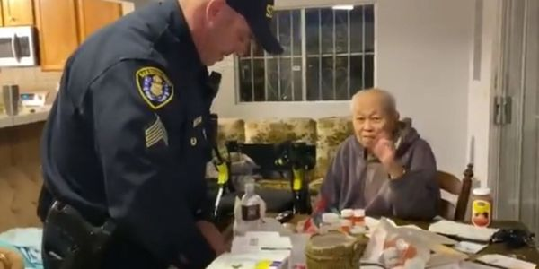 San Diego police officers brought food and groceries to a 95-year-old man earlier this week....