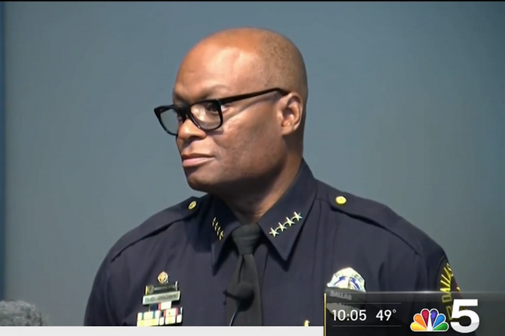 David Brown has been named superintendent of the Chicago Police Department. - Photo: NBC Chicago video screenshot