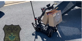 Video: Virginia Agency Uses Police Robot to Deliver Meals