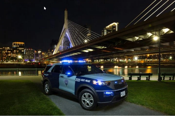 Massachusetts State Police has purchased 161 Ford Police Interceptor Utility hybrid vehicles for 2020. - Photo: Massachusetts State Police