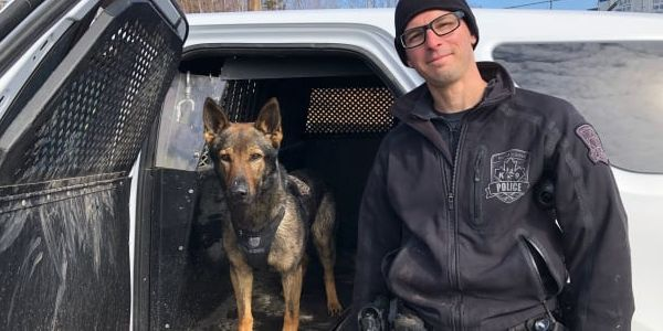 Constable Dan Berube of the Halifax Regional Police Department and his K-9 partner Jynx.