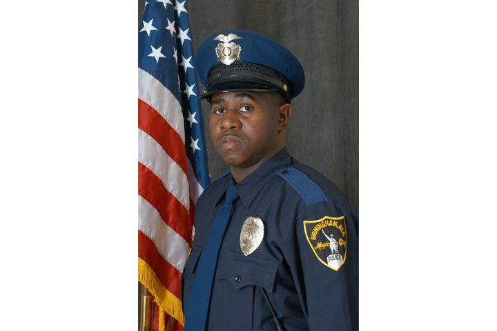 Det. Mikiel Smith was shot and wounded during a gunfight with a suspect outside of a restaurant. - Photo: Birmingham (AL) Police Department / Facebook