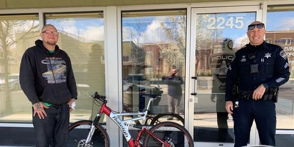 An officer with the Boise Police Department made a generous donation of a bicycle to a man who...