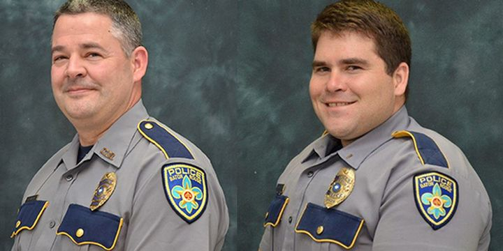 Baton officers Lt. Glenn Hutto, Jr. and Cpl. Derrick Maglone were shot while questioning a murder suspect Sunday. Hutto was killed. (Source: Baton Rouge PD) -
