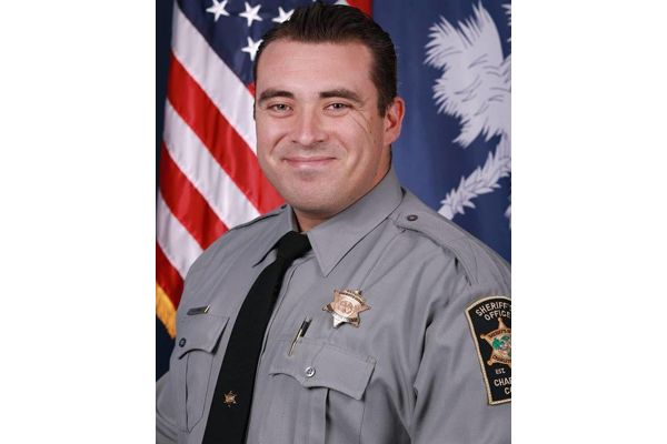 Deputy Jeremy Ladue of the Charleston County Sheriff's Office was involved in a fatal collision early Monday morning when his patrol car was struck by another vehicle.  - Image courtesy of the Charleston County Sheriff's Office.