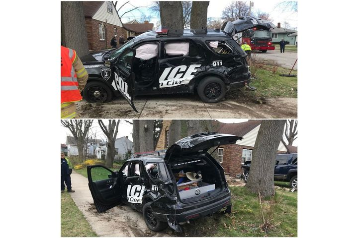 Detective Scott Combs of the Michigan City (IN) Police Department was injured Thursday in a police vehicle accident. (Photo: Michigan City PD/Facebook) -