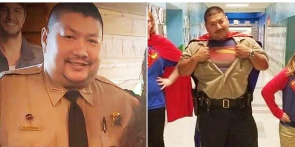 "Deputy and SRO Sypraseuth ""Bud"" Phouangphrachanh of the Montgomery County (NC) Sheriff's Office..."