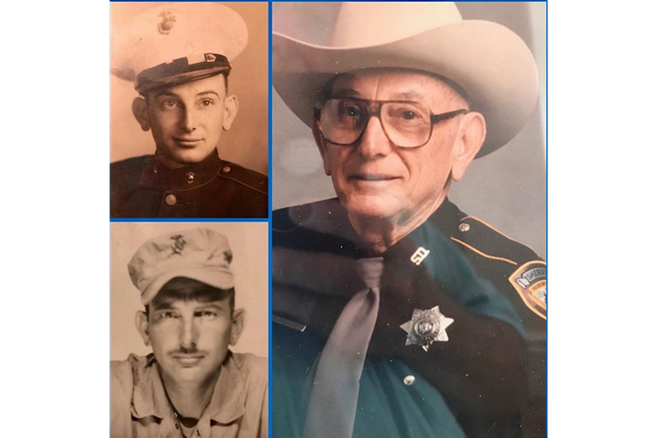 World War II Marine veteranThomas Morgan joined the Harris County (TX) Sheriff's Office as a reserve deputy at 70. (Photo: Harris County SO/Instagram) -