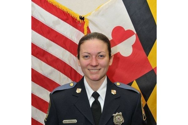 Officer Amy Caprio—who was 29 at the time of her death—is being remembered by the agency and government officials on the anniversary of her death.  - Image courtesy of Baltimore County Police Department.