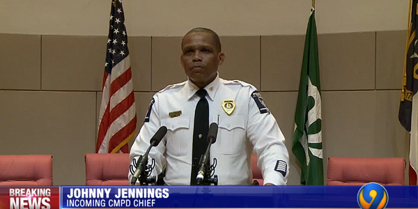 Deputy Chief Johnny Jennings is the new Charlotte-Mecklenburg Police Department Chief of Police.