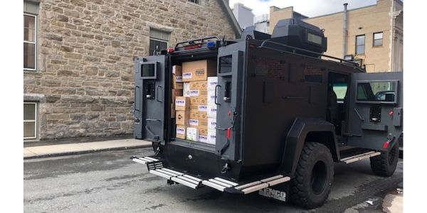 Lenco delivers personal protective equipment to the Pittsfield (MA) Police Department. (Photo:...