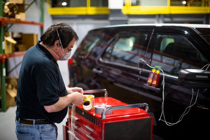 The heating process can be used by law enforcement regularly to help sanitize vehicles when officers are not inside. (Photo: Ford) -