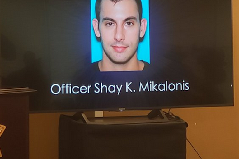 Las Vegas Metro officer Shay Mikalonis was shot and gravely wounded Monday night. He is on life...
