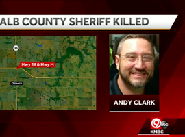Sheriff Andy Clark of DeKalb County, MO, was killed in a patrol vehicle crash Wednesday night. (Photo: KMBC Screen Shot)