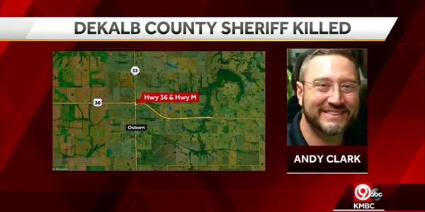 Sheriff Andy Clark of DeKalb County, MO, was killed in a patrol vehicle crash Wednesday night....