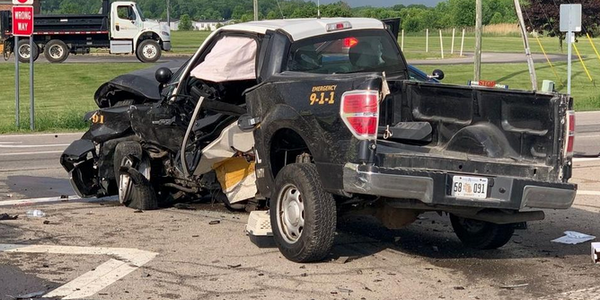 A Monroe County, MI, Sheriff's deputy was critically injured in a Wednesday crash. (Photo:...