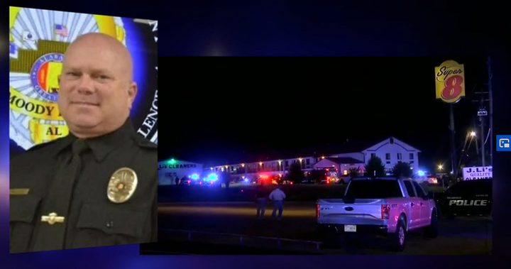 Sergeant Stephen Williams of the Moody (AL) Police Department was shot and killed Tuesday night during a call for service at a local motel. (Photo: WBRC Screen Shot)  -