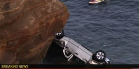 California Officer Rescues Toddlers after Father Drives Off Cliff