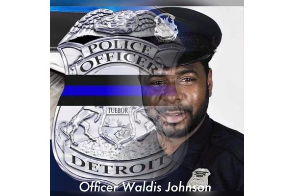 Officer Waldis Johnson was shot in the head in April 2017 while responding to a domestic call and has reportedly died of his injuries. - Image courtesy of Detroit Police Department / Facebook.