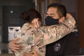 Texas Officer Surprised by Wife Returning from Deployment Overseas