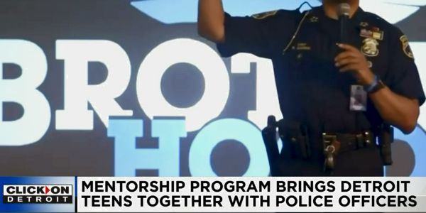Officers with the Detroit Police Department are mentoring young people at six local area high...