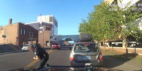 Video: Minnesota Officer Sideswiped on Traffic Stop