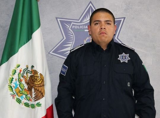Marco Antonio Guzman Galvan was wearing his police uniform when he was shot by an unknown assailant after leaving his department and driving home. - Image courtesy of Juárez Police Department.