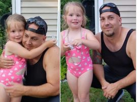 An off-duty officer with the Clarkstown (NY) Police Department leaped into action when he saw a small girl in danger of drowning over the Independence Day weekend.