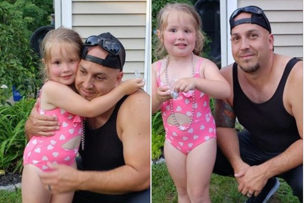 An off-duty officer with the Clarkstown (NY) Police Department leaped into action when he saw a small girl in danger of drowning over the Independence Day weekend. - Image courtesy of Facebook.