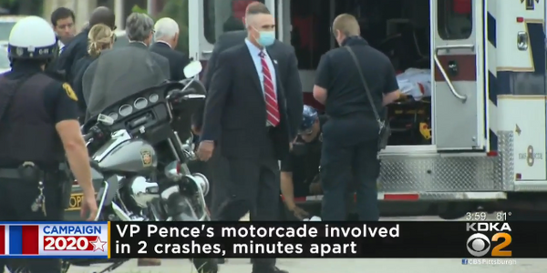 Vice President Stops to Aid Injured Motorcade Officers
