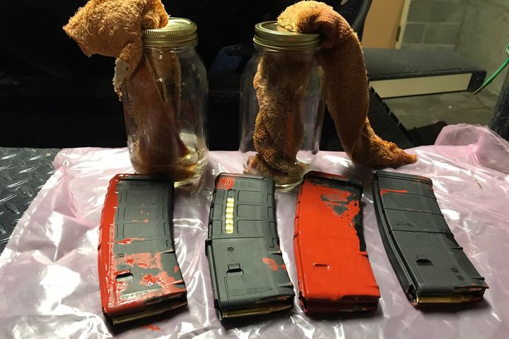 "Police in Portland (OR) discovered a number of rifle magazines as well as ""Molotov Cocktail"" improvised incendiary devices as protests continued over the weekend. - Image courtesy of Portland Police Department / Twitter."