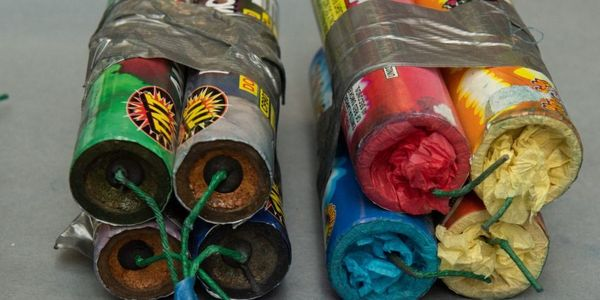 "Some of the ""fireworks"" recovered by Seattle police from a van abandoned near rioting. (Photo:..."