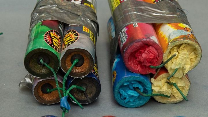 "Some the ""fireworks"" recovered by Seattle police from a van abandoned near rioting. (Photo: Seattle PD) -"