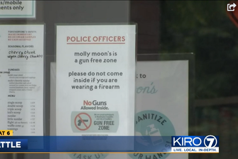 Armed Seattle police have been told they are not welcome at an area ice cream chain. (Photo:...